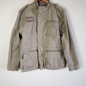 Urban behavior green utility jacket